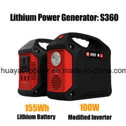 Energien-Generator-nachladbares bewegliches Kraftwerk des Lithium-100W