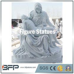Commerce de gros en granit blanc figure de l'ouest de la Sculpture statue de Jésus