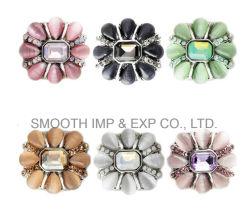 Мода сплавов серебра Rhinestone стопорное кнопку браслеты украшения одежды аксессуары