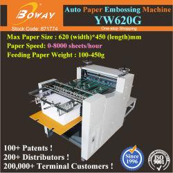 Yw620g électrique automatique du papier des livres de bibliothèque personnalisée Nom d'entreprise Embosseur froid de la carte de presse