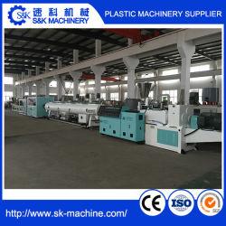 Línea de producción de tubería de PVC de plástico para el suministro de agua y drenaje