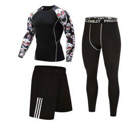 1개의 운동 Sportsuit에 대하여 인쇄 t-셔츠 남자의 훈련 체조 착용 4를 주문을 받아서 만드십시오