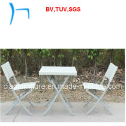 F- Folding Rattan 정원 Table와 Stackable Wicker Chair (CF1025)