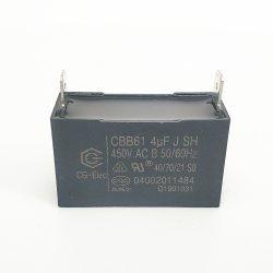 Condensatore di alta qualità Cbb61 4UF 450 V. Condensatore CA per condensatore ventola