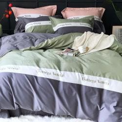 현대 디자인 3 PCS 바느질 패턴 가정 직물 1인용 침대 매끄러운 깃털 이불 덮개