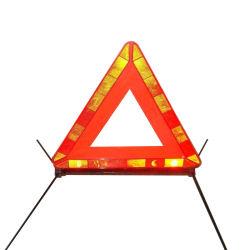 Aprovado pela CE reflexiva de emergência vermelho de alta visibilidade triângulo de aviso dobrável
