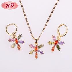 2017 Las chicas de moda Niza Zircon Dulhan regalo Set de joyas de zirconio