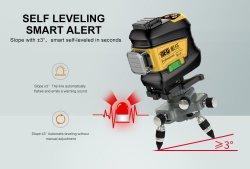 Venda quente 16 Linhas Feixe Verde Nivelador Terra Laser 4D 360 giratório automático de nivelamento automático do nível a laser para a criação de ferramentas de medição