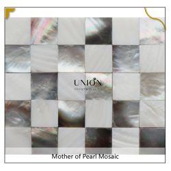 المفصل الضيق ورقة شل ورقة غلاف اصطناعية أسود تاهيتي سيشل MIX Pure White Freshwater والدة من بيلؤلؤة Mosaic خصم الخلفية تجانب الحائط
