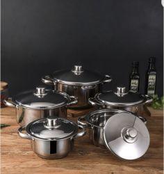 Dom de aço inoxidável pote de cozinha em metal