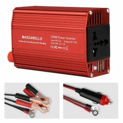 Coche de 300W Inversor de potencia DC 12V a 110V AC salida del convertidor de 2 puerto USB