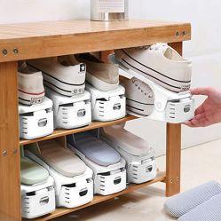 De Organisator van de Groeven van de schoen, het Regelbare Dubbele Rek van de Schoen van de Stapel van de Laag 10PCS, van het Ruimtebesparende van 50% de Houder Rek van de Opslag