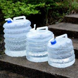Le PEBD Camp pliables en plastique de l'eau verseuse de stockage de transporteur, sac d'eau