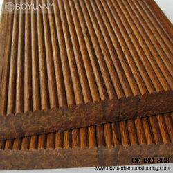 Comercio al por mayor mosaico de bambú laminado Panel de pared de madera de bambú y una sólida plataforma exterior pisos de madera
