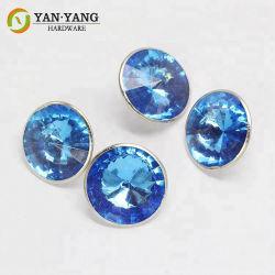 Acessório de mobiliário moderno de cor azul personalizadas em acrílico decorativas Botão Sofá
