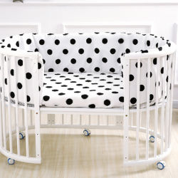 Cuna cama redonda puede ser empalmado gran cama doble cuna cama cuna multifuncional