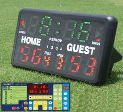 バスケットボールのための毎秒24sの650X400mm黒いBg屋外LEDのスコアボード