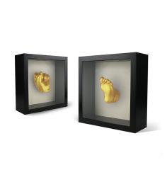 Shadow boîte 3D Cadre photo carré avec un tapis, Shadowbox Frame Picture Frame Photos Woodgrain DIY prescrits pour la Décoration de Mur 3D Affichage de table