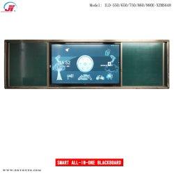 55''65''75''86''smart de infrarrojos de inserción y extracción de pizarra pizarra inteligente Smart Digital LCD Pizarra pizarra interactiva SMART SMART Escuela Verde deslizante jabalí