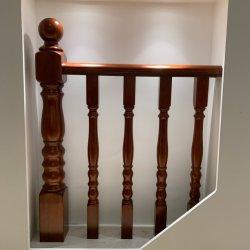 Escadas de madeira maciça para casa o corrimão da escada interior para a grade de madeira escada forjado