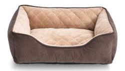 Cuddler 애완 동물 침대 Quliting 우단 개 침대 소형 현대 작풍 진정시키는 고양이 침대에 회색 브라운 색깔 부드럽게 온난한 큰