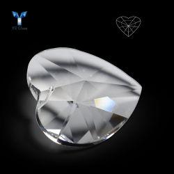 Очистить стекло в форме сердечка подвесной валики многогранных хрустальной люстрой и пультов управления
