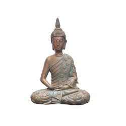 Statua di Buddha meditante in resina in un design minimalista per il giardino Statua