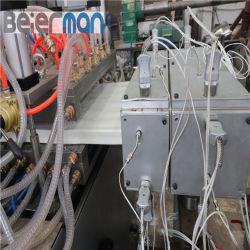 Norma Euro-Quality 200-400mm de largura da janela de PVC placa de porta de linha de produção Sjsz65/132 linha de máquinas de extrusão de parafuso duplo sistema de tela de toque PLC motor Siemens