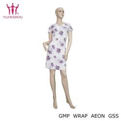 O OEM/ODM Short-Sleeve mulheres Vermelho pijama de algodão com impressões de Água