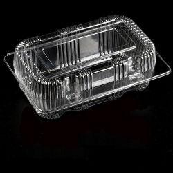 Het beschikbare Plastic fruit Clamshell/de plantaardige verpakkende container haalt de verse houdende doos van de voedselverpakking weg