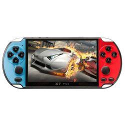 X7 Plus 5.1Inch MP5 filmes em HD duplos de 8g Video Kids Música Portátil LCD consola de jogos de vídeo