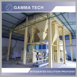 Completa máquina de alimentación animal 1-2 tph y la comida de peces de la línea de producción de la máquina incluyendo peletizadora como Granulator, la extrusora, máquina de moler