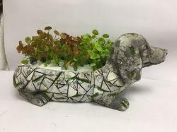 MGO de Planter van de Hond voor de Decoratie van de Tuin