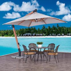 Projet de la plage d'aluminium couleur bois classique à l'extérieur des parasols pour jeu de table UV