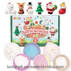 クリスマスの浴室の爆弾はおもちゃが付いている泡の浴槽の爆弾のクリスマス クリスマスの図のおもちゃの SPA の浴室の Fizzies セットとの木の装飾