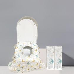 مقاعد المرحاض كبيرة جداً وقابلة للاستخدام مرة واحدة تغطي أغطية مقاعد البطاطا المحمولةللأطفال والبالغين