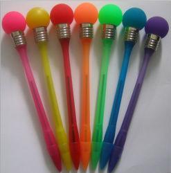 Penna di Ballpoint luminosa multicolore della penna LED di incandescenza di vibrazione