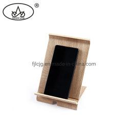 Teléfono de escritorio de madera para oficina alquiler de coche portátil Mobile titular de la caja de soporte con un color natural