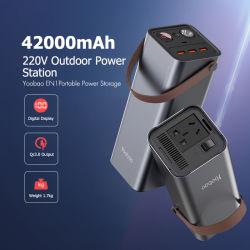 Генератор 150 Вт мощности большого объема банка 42000mAh портативное зарядное устройство хранения энергии резервный источник питания постоянного тока/AC внешнего аккумулятора