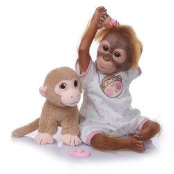 21inch 52cm echt Hand Gedetailleerd het Schilderen Pasgeboren Doll van de Kunst van het Silicone van Herboren van de Aap Doll van de Baby Echt zeer Zacht Vinyl Flexibel Inbaar kijken Realistisch