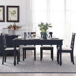 أثاث حديث أثاث أثاث مطبخ خزائن أثاث منزلية فاخرة وطاولة طعام فاخرة طاولة طعام من الخشب المطاط المستورد طبيعيا 6 سيترات