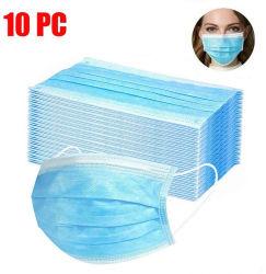 10 ПК 3 Ply Non-Woven одноразовые активирована перед лицом метки для взрослых и детей (синий)