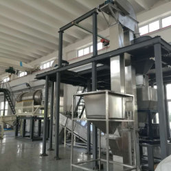 Detergente en polvo simple línea de producción con baja inversión