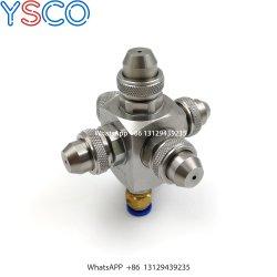 Ys Edelstahl-Block-Typ fünf Spray-Installations-Strahlen-Luft-atomisierende Spray-Düse