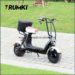 Mini-bicicleta eléctrica Dobrável Citycoco Scooter duas rodas com a cesta