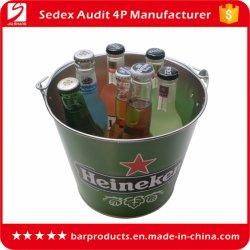 Resfriador de vinho capacidade 5.5L metal de estanho galvanizado balde de gelo