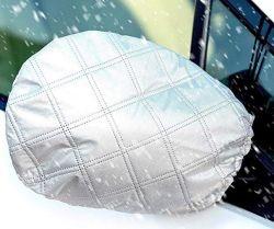 Voiture rétroviseur latéral de la neige et la couverture de glace