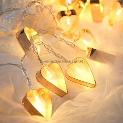 سلسلة LED الخفيفة من نجم الحديد الزخرفي في عيد الميلاد