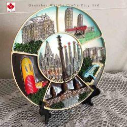 La resina manualidades creativas de la placa de recuerdos turísticos de Barcelona