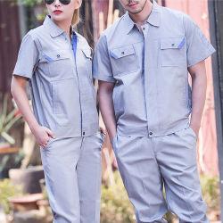 Los hombres de uniforme de seguridad de la construcción de las minas de carbón poco uniforme Camiseta Ropa de trabajo de varios bolsillos